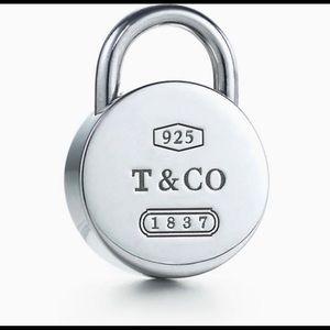 Authentic Tiffany 1837 round padlock necklace